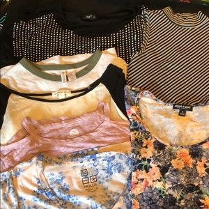 Small mixed tops lot